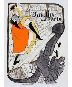 Henri de Toulouse-Lautrec, Jane Avril - Jardin de Paris. 19. Jh.