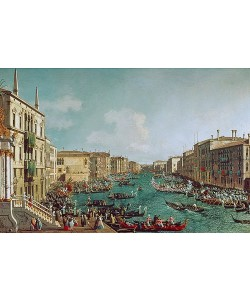 Canaletto (Giovanni Antonio Canal), Regatta auf dem Canale Grande vor dem Palais Ca'Foscari. Um 1740