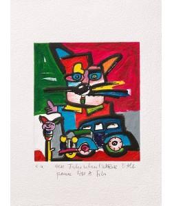 Otmar Alt Der Kunsthändler handsigniert Poster Bild Kunstdruck im Alu Rahmen