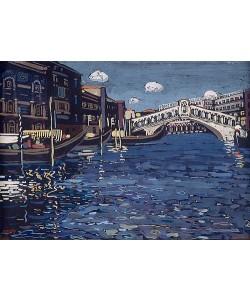 Wassily Kandinsky, Erinnerung an Venedig 4, Rialtobrücke. 1903-04