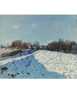 Alfred Sisley, Louveciennes im Schnee (Effet de neige à Louveciennes). 1874