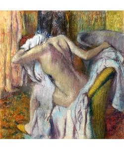 Edgar Degas, Nach dem Bad, sich abtrocknende Frau. Um 1890-95