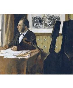 Edgar Degas, Louis-Marie Pilet, Cellist des Orchesters der Opera. 1868-69