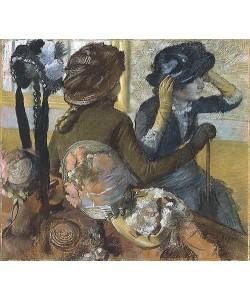 Edgar Degas, Beim Hutmacher. 1882