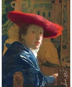 Jan Vermeer van Delft, Mädchen mit rotem Hut. Um 1665/66