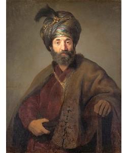 Rembrandt van Rijn, Mann in orientalischem Kostüm. Um 1635