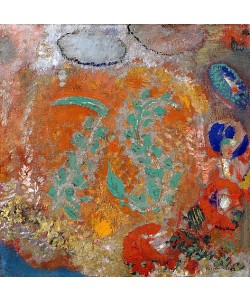Odilon Redon, Komposition: Blumen ohne Vase. Um 1905