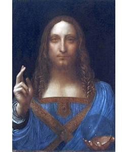 Leonardo da Vinci, Christ der Erlöser (Salvator Mundi). Um 1499-1500
