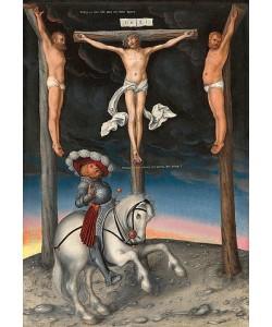 Lucas Cranach d.Ä., Kreuzigung mit dem gläubigen Hauptmann. 1536