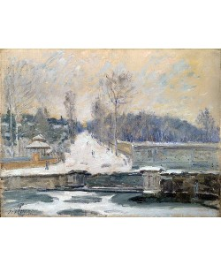 Alfred Sisley, Die Tränke bei Marly-le-Roi. Wohl 1875
