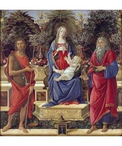 Sandro Botticelli, Thronende Maria mit dem Kinde und Heiligen. 1485.