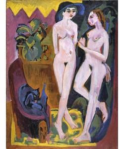 Ernst Ludwig Kirchner, Zwei Akte in einem Raum. 1914