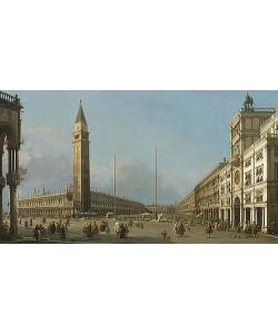 Canaletto (Giovanni Antonio Canal), Markusplatz mit Blick nach Süden und Westen. 1763
