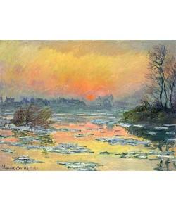 Claude Monet, Sonnenuntergang über der Seine (Coucher de Soleil sur la Seine). 1880