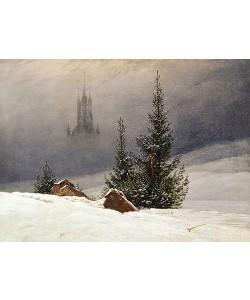 Caspar David Friedrich, Winterlandschaft mit Kirche. 1811