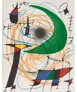 Miro Joan Volume 1 Blatt 5 (Mond) (Lithog.Buchauflage, unsigniert)