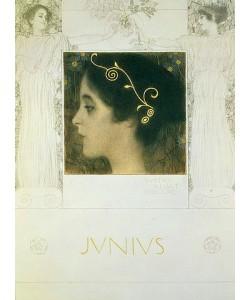 Gustav Klimt, Reinzeichnung für die Allegorie Junius 1896.