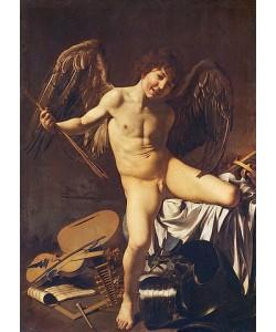 Michelangelo Merisi da Caravaggio, Amor als Sieger. 1602.