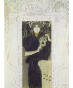 Gustav Klimt, Reinzeichnung für die Allegorie der 'Tragödie'. 1897