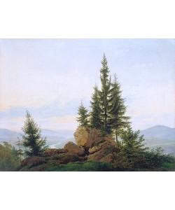 Caspar David Friedrich, Blick in das Tal der Elbe. 1807.