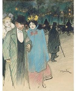 Théophile-Alexandre Steinlen, Nach dem Theater. Um 1900.