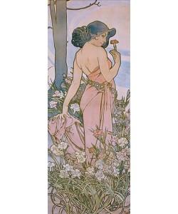 Alfons Mucha, Die Nelke. 1898.