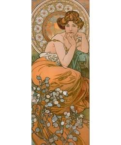 Alfons Mucha, Edelsteine: Topas. 1900.