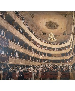 Gustav Klimt, Innenansicht des alten Burgtheaters. Blick gegen den Zuschauerraum. 1887/88.