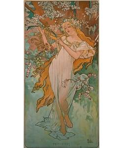 Alfons Mucha, Jahreszeiten: Frühling. 1896.