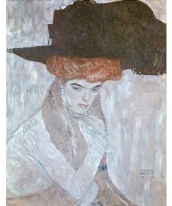 Gustav Klimt, Dame mit schwarzem Federhut. 1910