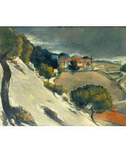 Paul Cézanne, Erster Schnee bei l'Estaque. 1870.