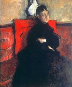 Edgar Degas, Portrait der Herzogin von Montejasi-Cicerale, der Tante des Künstlers. Um 1868