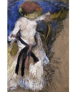 Edgar Degas, Sitzende Dame in weißem Kleid 1888-92