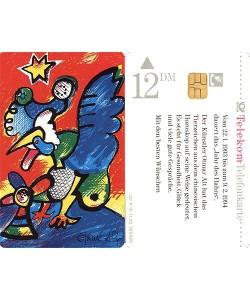 Alt Otmar Hahn (Telefonkarte) (Auflage500000, handsigniert)