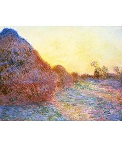 Claude Monet, Strohschober im Sonnenlicht. 1891