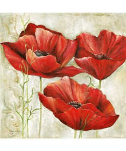 Anna Field, THREE RED POPPIES I