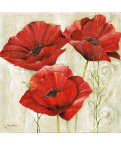 Anna Field, THREE RED POPPIES II