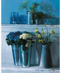 James Demmick, Stillife with silver pots