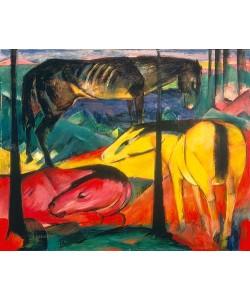 Franz Marc, Die drei Pferde. 1913.