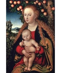 Lucas Cranach d.Ä., Madonna mit Kind unter dem Apfelbaum. 1531.