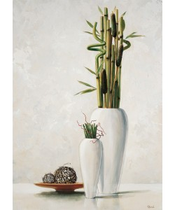 Renee, Bamboo in white vase I