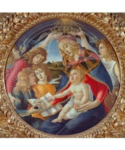 Sandro Botticelli, Maria mit Kind und fünf Engeln (Madonna del Magnificat). Tondo. Um 1481.