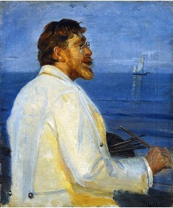 Michael Peter Ancher, Bildnis des Malers Peter Severin Kroyer. 1907.