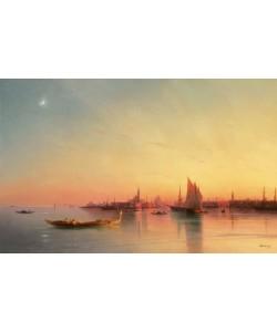 Aiwassowskij, Blick von der Lagune auf Venedig bei Sonnenuntergang