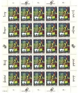 Friedensreich Hundertwasser, Nations Unies (Briefmarkenbogen) (CH 1,00 CHF)