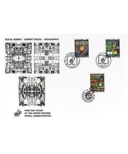 Hundertwasser Friedensreich Sozialgipfel (Briefm.-Umschlag) (CH/Österreich/USA)