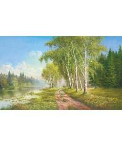Helmut Glassl, PATH AT THE LAKE