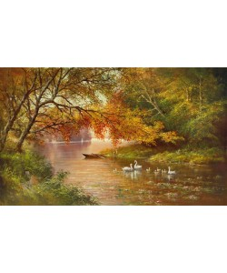 Helmut Glassl, SWAN FAMILY IN AUTUMN