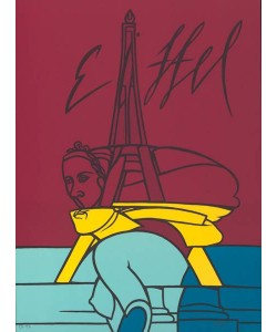 Adami Valerio Eiffel (Lithographie, handsigniert)