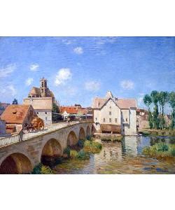 Alfred Sisley, Die Brücke von Moret. 1893.